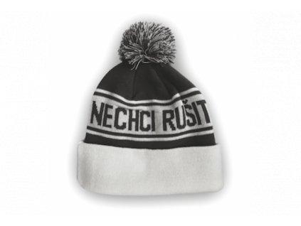 Zimní čepice Gejmr - bíločerná