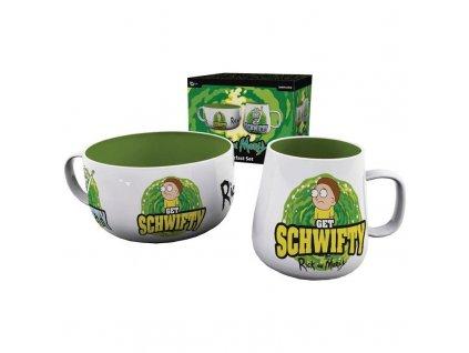 Rick and Morty snídaňový set – Get Schwifty