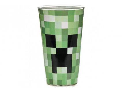 Minecraft sklenice – Creeper