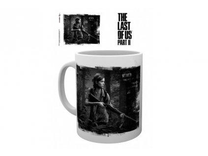 The Last Of Us 2 hrnek - Černobílý