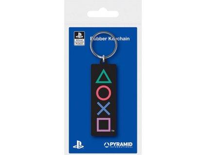 92417 Sony PlayStation klíčenka znaky gumová