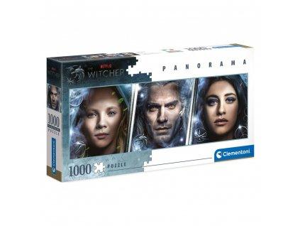 The Witcher Panorama Puzzle Faces (1000 dílků) (1)