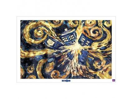 Plakát Doctor Who exploze Tardis