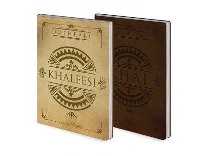 Zápisník Game of Thrones - Khal & Khaleesi, 2 ks