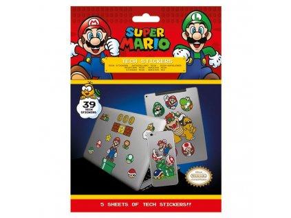 Super Mario - sada vinylových samolepek - Mushroom Kingdom (39 ks)