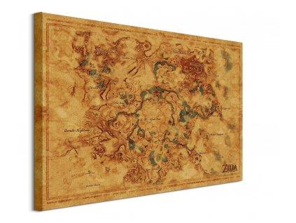 Legend of Zelda - obraz - Hyrule World Map