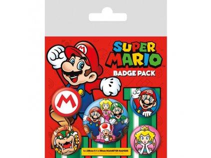 Super Mario - sada placek - Mario (5 ks)