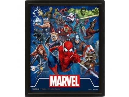 Marvel 3D obraz - Cinematic Icons