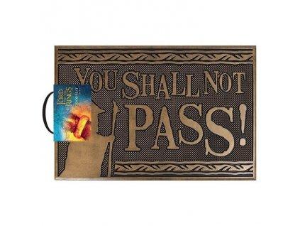 Pán Prstenů - rohožka - You Shall Not Pass