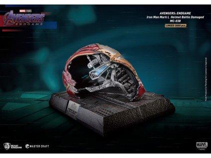 Avengers Endgame Master Craft replika Poškozená helma Iron Man Mark50 (1)