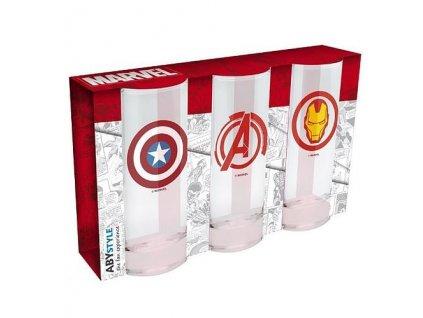Marvel sada sklenic (3 ks) (1)