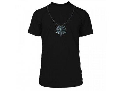The Witcher 3 tričko Wolf School Medallion (1)