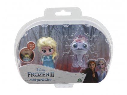 Frozen - svítící mini panenky - Elsa Travelling & Fire Spirit