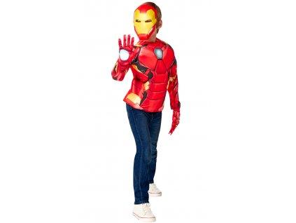 Avengers: Iron Man - dětský kostým - triko s vycpávkami a maska