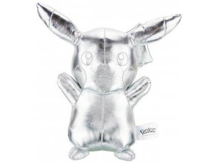 Pokémon 25. výročí stříbrný plyšák Pikachu (1)