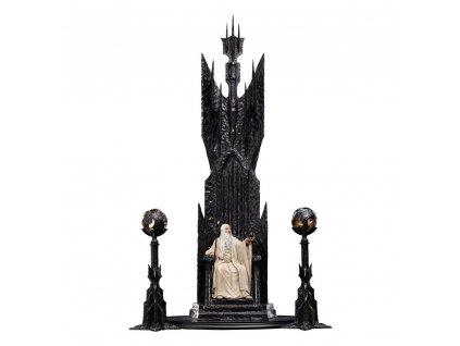 Pán Prstenů socha Saruman the White on Throne (1)