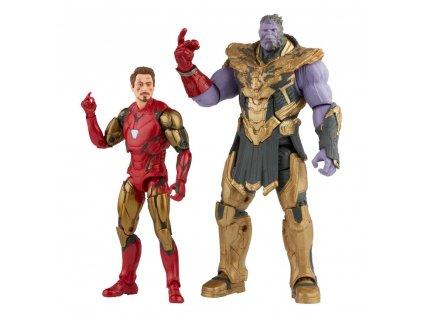 The Infinity Saga Marvel Legends Series akční figurky Iron Man & Thanos (Endgame) (1)