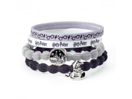 Gumičky do vlasů Harry Potter - Bradavice a Moudrý klobouk