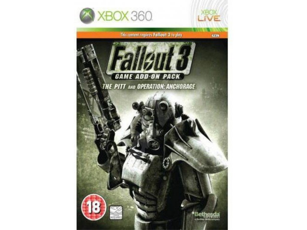 XBOX 360 Fallout 3 The Pitt + Operation Anchorage