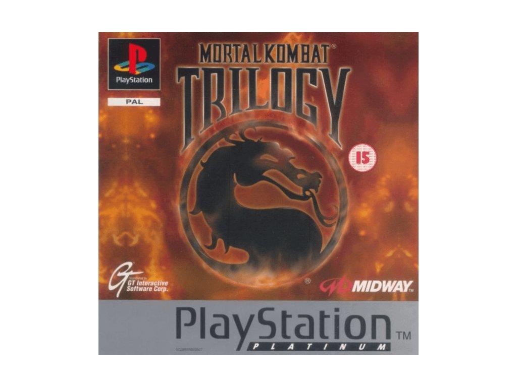 PS1 Mortal Kombat trilogy platinum