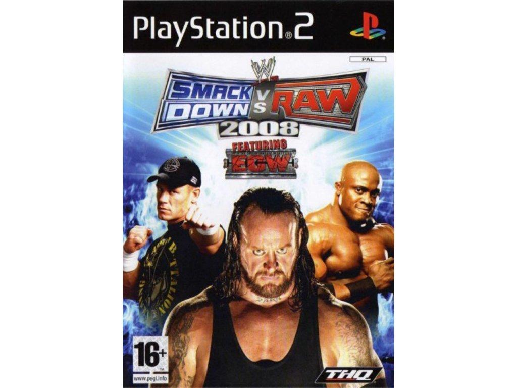 PS2 WWE SmackDown vs. Raw 2008