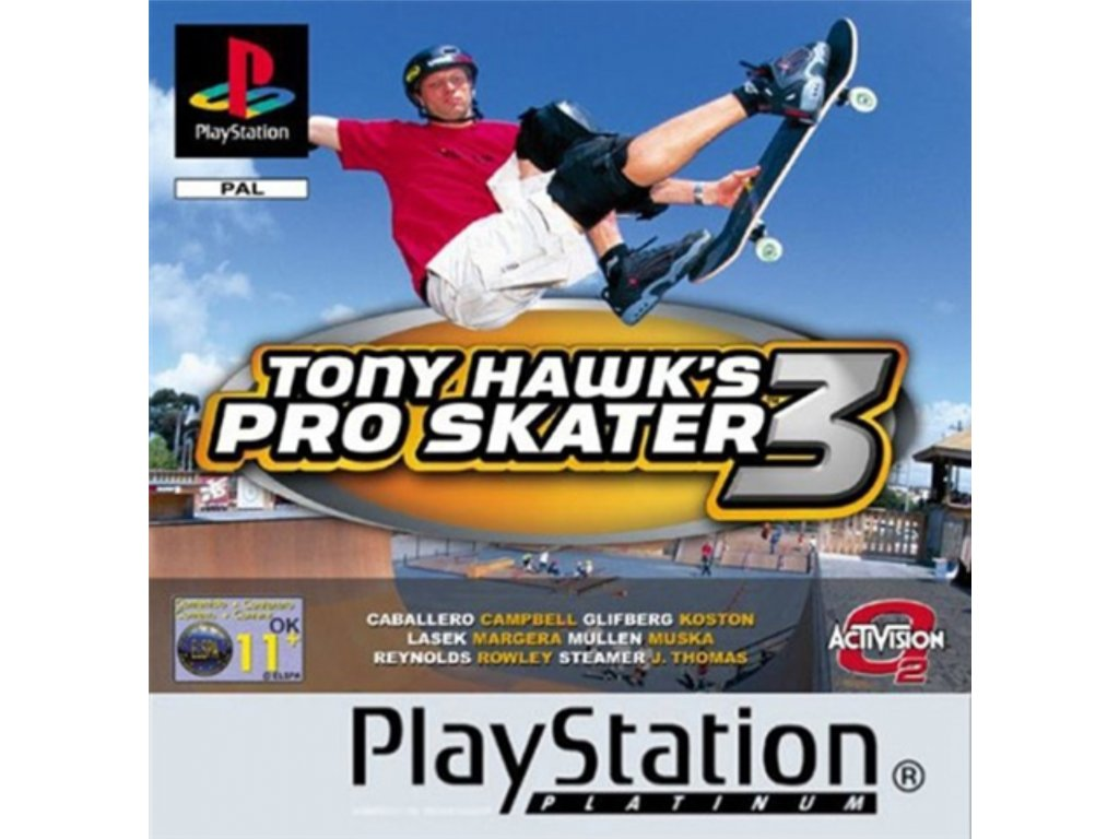 PS1 Tony Hawk´s Pro Skater 3 platinum
