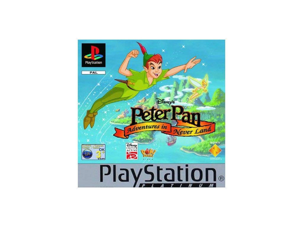 PS1 Peter Pan Adventures in Never Land platinum