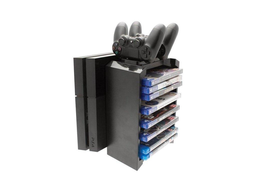 2 v 1 Dobíjecí věž VENOM + stojan na PS4 hry a ovladače (nové)