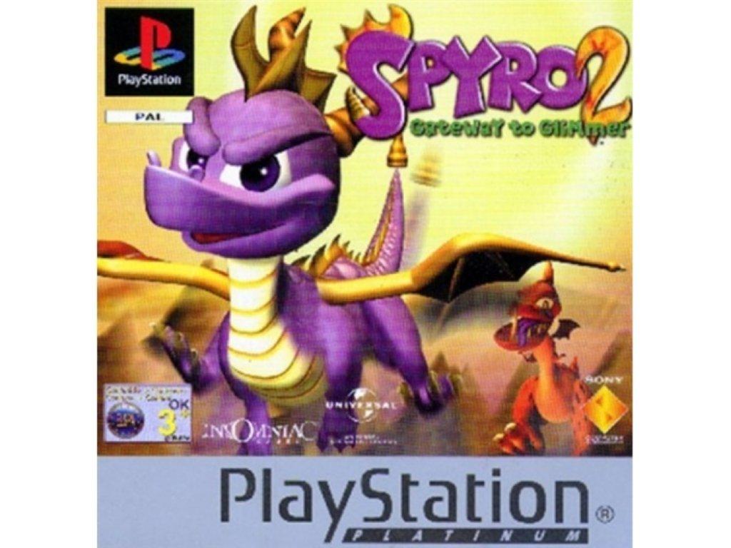 PS1 Spyro 2 Gateway to Glimmer Platinum