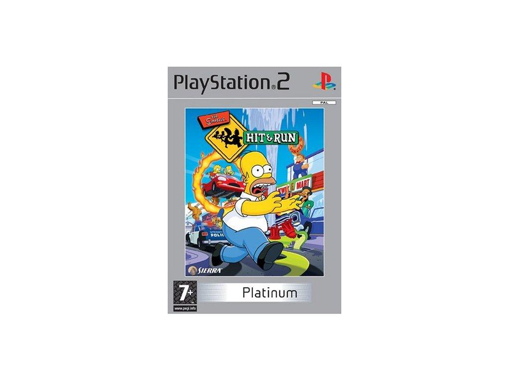 PS2 The Simpsons Hit & Run platinum