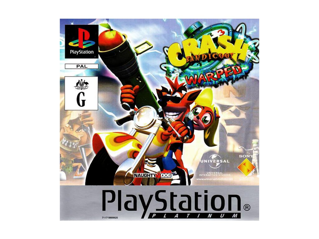PS1 Crash Bandicoot 3 Warped Platinum