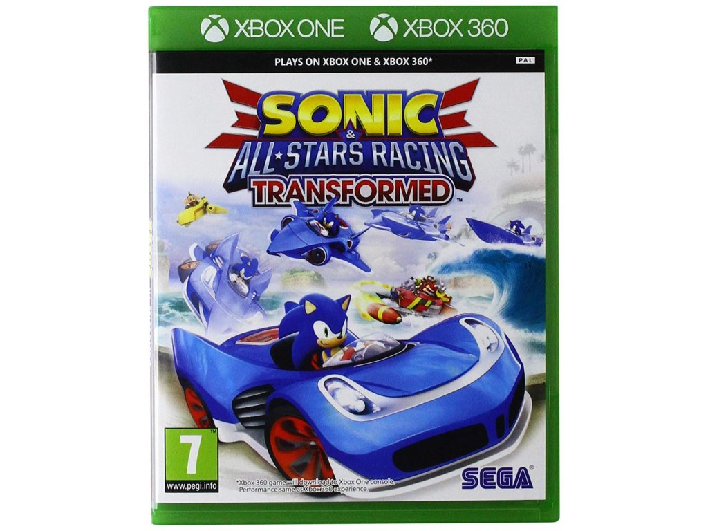 XBOX 360 a xbox one Sonic & SEGA All Stars Racing Transformed