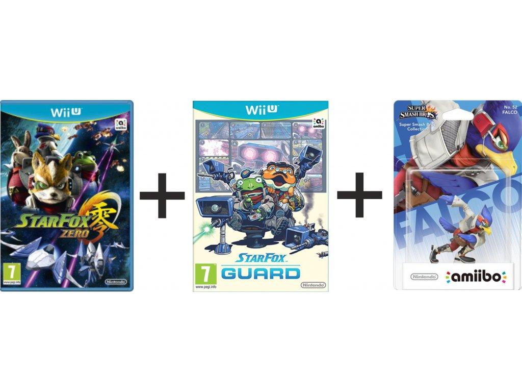 Star Fox Zero + Star Fox Guard + Faclon 52 Toy (Wii U)