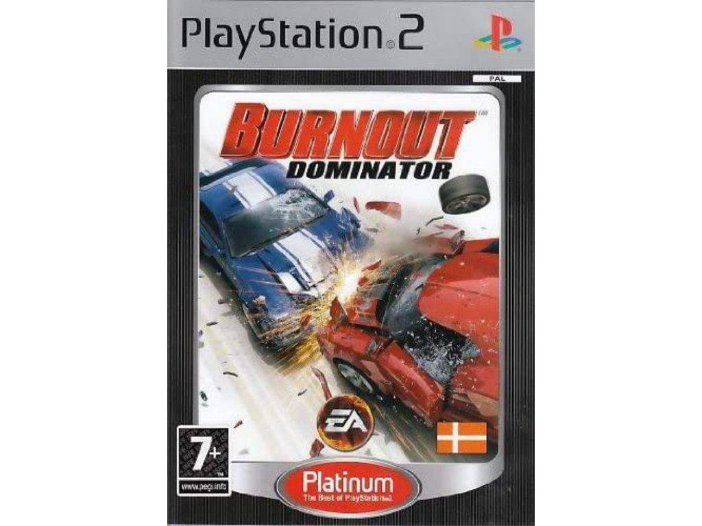 PS2 Burnout Dominator PLATINUM