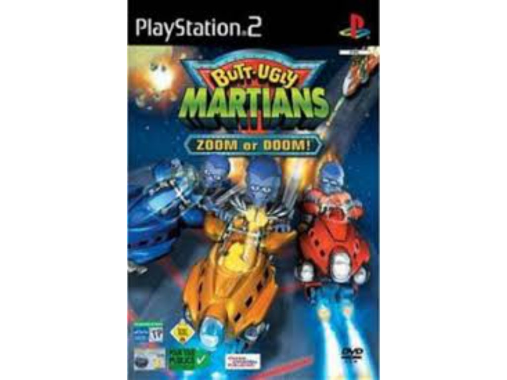 PS2 Butt Ugly Martians Zoom or Doom