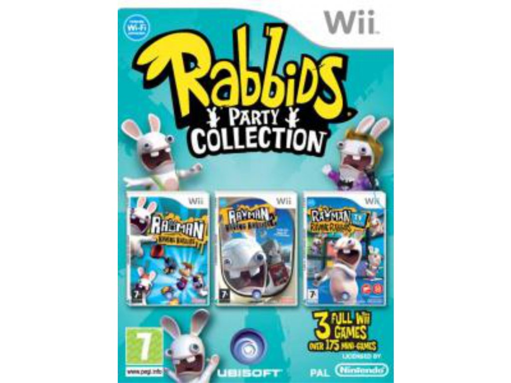 wii raving rabbids party collection
