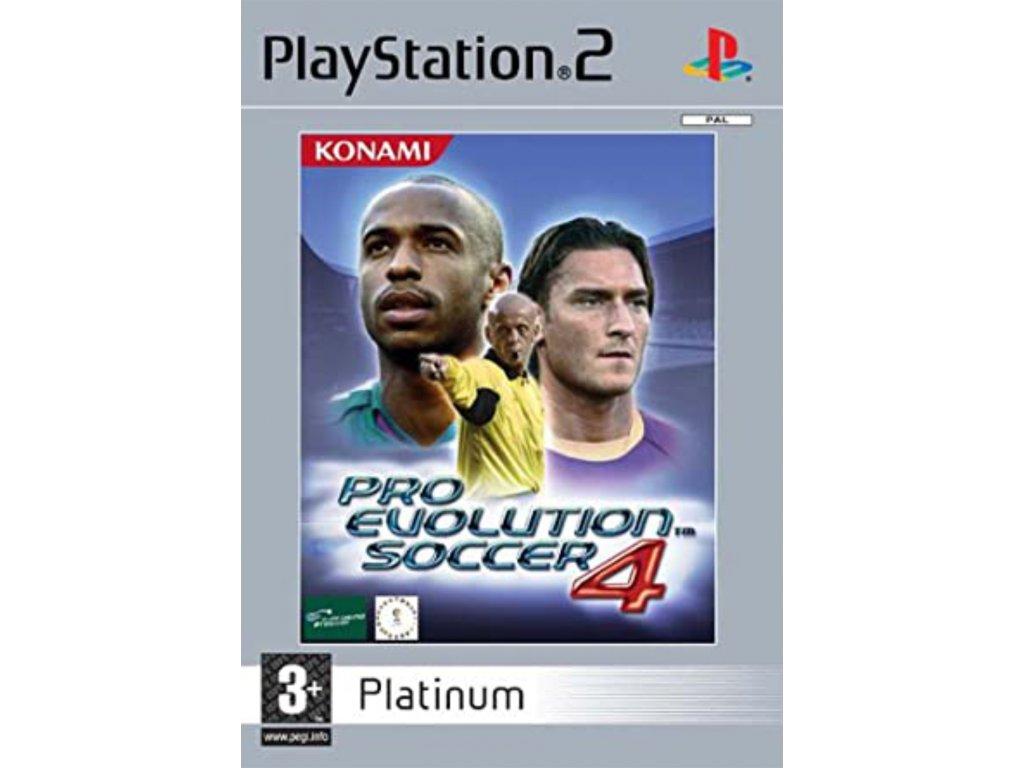 PS2 Pro Evolution Soccer 4 platinum