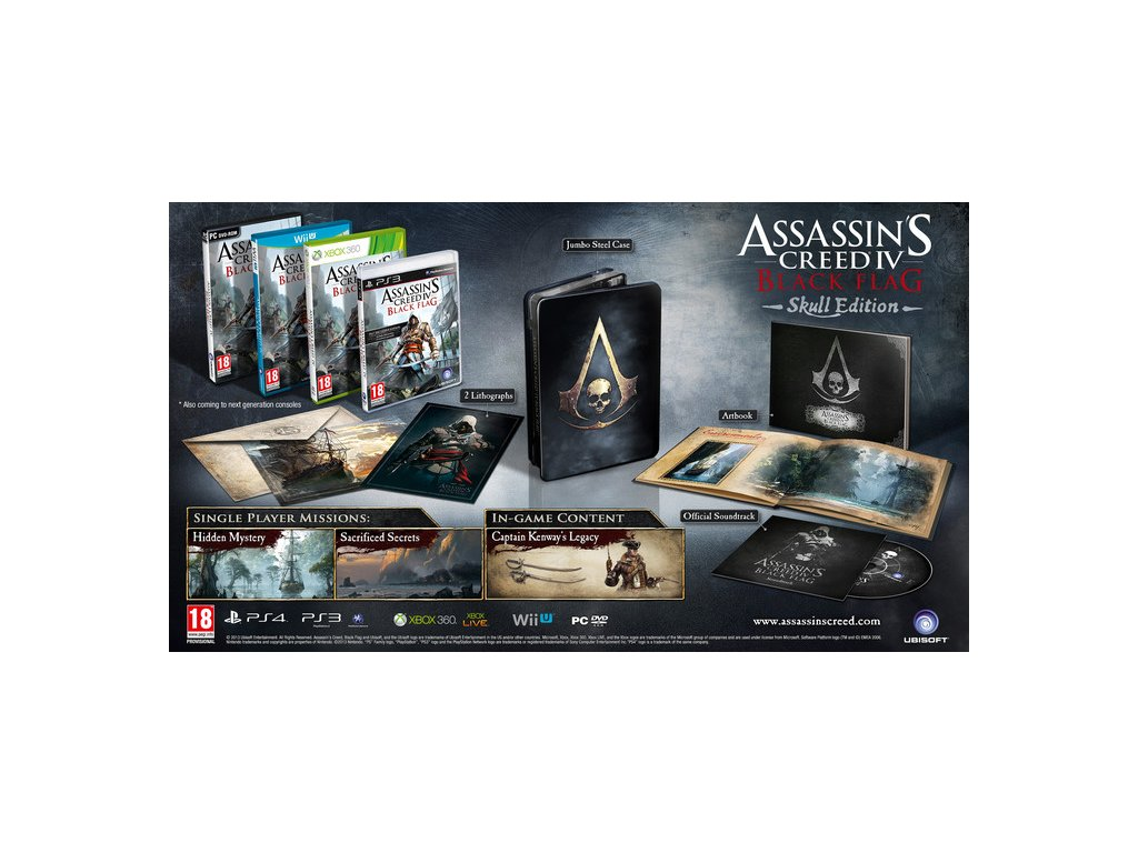 XBOX 360 Assassins Creed 4 Blackflag - Skull Edition