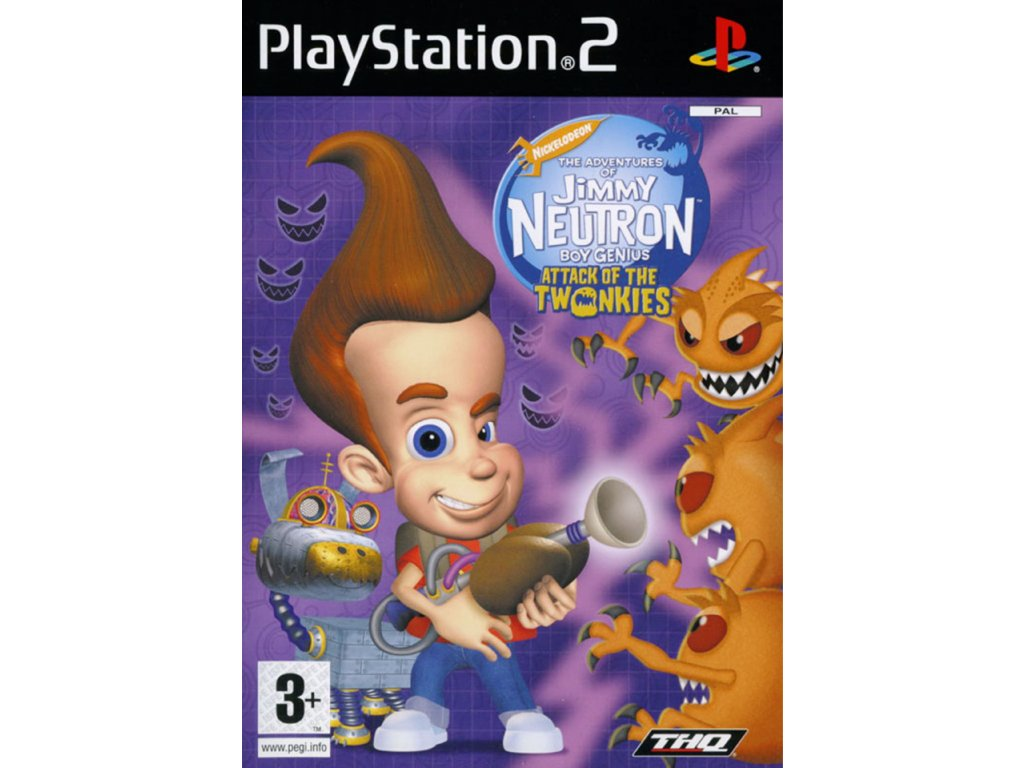 PS2 The Adventures of Jimmy Neutron: Boy Genius - Attack of the Twonkies