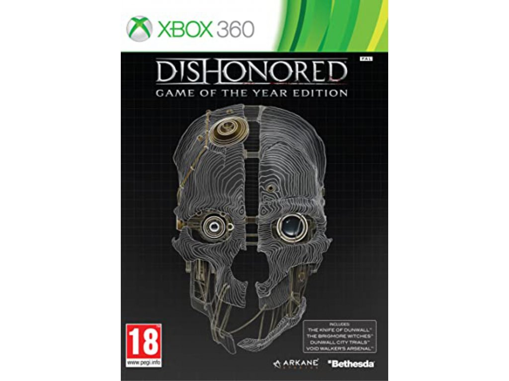 XBOX 360 Dishonored Game Of The Year Edition