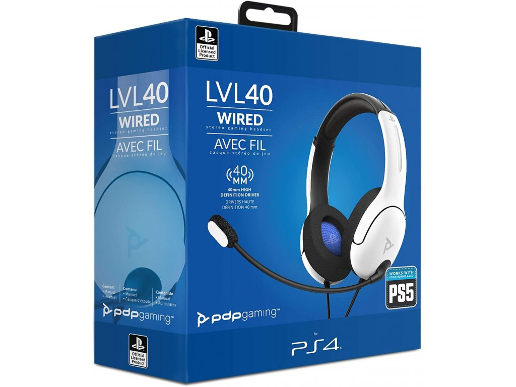 PDP PS4 PS5 Wired Headset LVL40