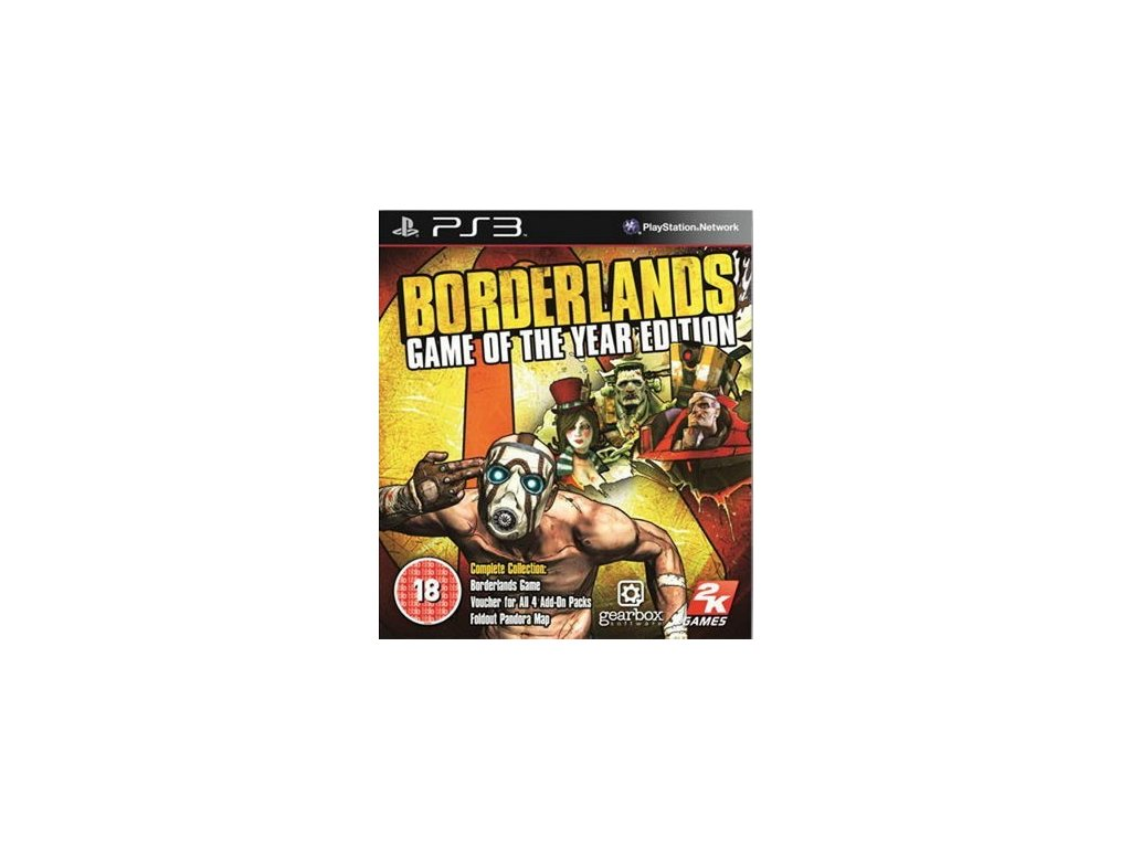 PS3 Borderlands: Game of the Year Edition