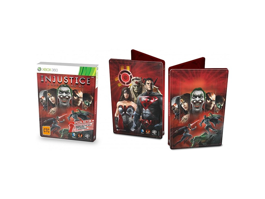 XBOX 360 Injustice Gods Among Us SPECIAL STEELBOOK EDITION