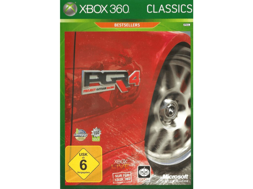 XBOX 360 PGR 4 Project Gotham Racing classics