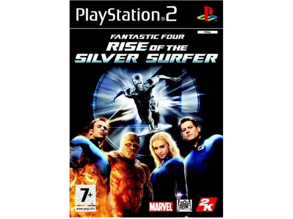 PS2 Fantastic Four The Rise of The Silver Surfer