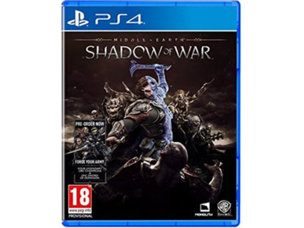 Middle Earth Shadow of War (Includes Forge your Army) PS4