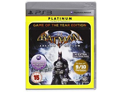 PS3 batman arham asylum goty