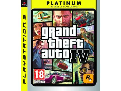 PS3 Grand Theft Auto IV platinum