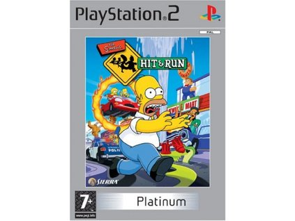 PS2 The Simpsons Hit & Run platinum