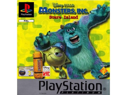 PS1 Disney Pixar's Monsters, Inc. Scare Island PLATINUM